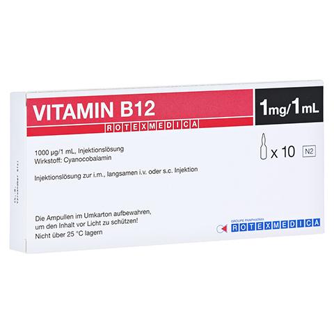 Vitamin B12 Rotexmedica Injektionslösung 10x1 Milliliter N2