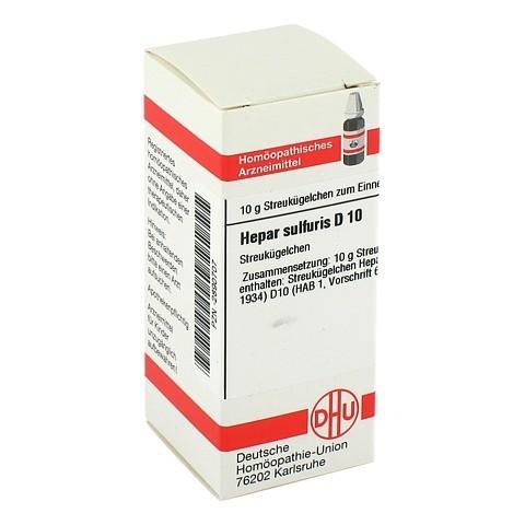 HEPAR SULFURIS D 10 Globuli 10 Gramm N1