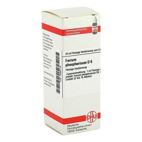 FERRUM PHOSPHORICUM D 6 Dilution 20 Milliliter N1