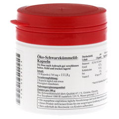 HYPO A Schwarzkümmelöl Kapseln 150 Stück - Rückseite