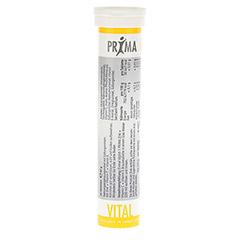 PRIMA VITAL Zink+Vitamin C+E Brausetabletten 20 Stück - Rückseite