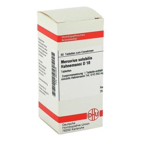 MERCURIUS SOLUBILIS D 10 Tabletten Hahnemanni 80 Stück N1