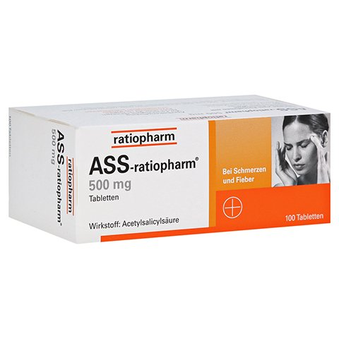 ASS-ratiopharm 500mg 100 Stück