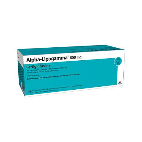 ALPHA LIPOGAMMA 600 mg Fertiginfus.Durchst.F. 10x50 Milliliter N2