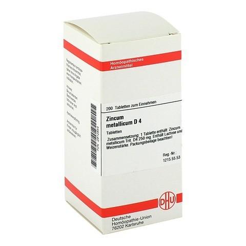 ZINCUM METALLICUM D 4 Tabletten 200 Stück N2