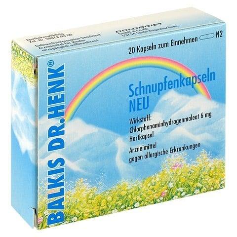 Balkis Dr. Henk Schnupfenkapseln Neu 20 Stück N2
