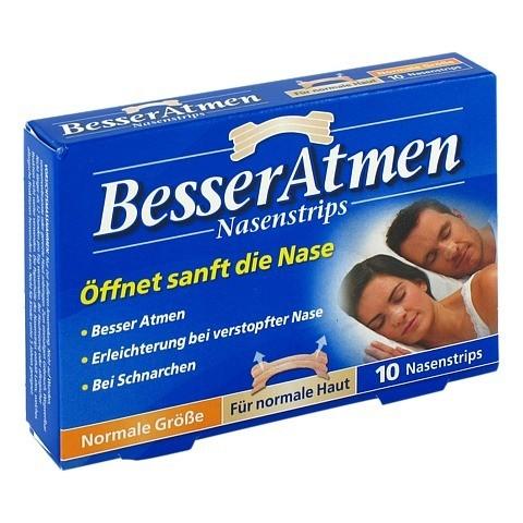 Besser Atmen Nasenstrips beige 10 Stück
