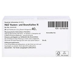H&S Husten-und Bronchialtee N 20 Stück - Unterseite