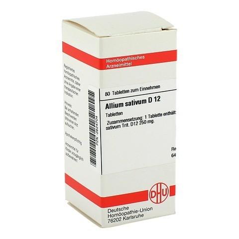 ALLIUM SATIVUM D 12 Tabletten 80 St�ck N1