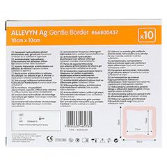 ALLEVYN Ag Gentle Border 10x10 cm Wundverband 10 Stück - Rückseite