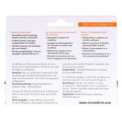 STRATADERM Narbentherapeutikum Gel 20 Gramm - Rückseite