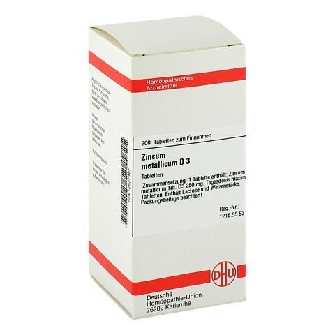 ZINCUM METALLICUM D 3 Tabletten 200 St�ck N2