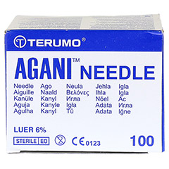 AGANI Kan�le 20 G 38 mm gelb 100 St�ck - Oberseite