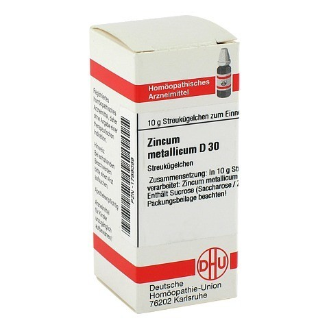ZINCUM METALLICUM D 30 Globuli 10 Gramm N1