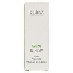 BELIEVA Natural Intensiv Creme 30 Milliliter - Vorderseite