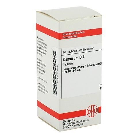 CAPSICUM D 4 Tabletten 80 St�ck N1
