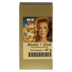 BIOTIN PLUS Zink Haarkapseln 100 St�ck - Vorderseite