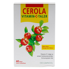 CEROLA Vitamin C Taler Grandel 60 Stück - Vorderseite