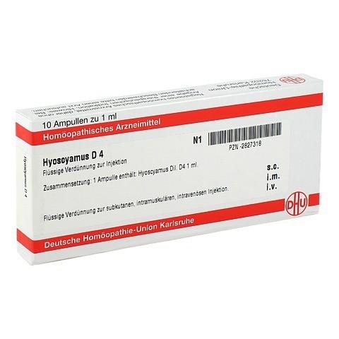 HYOSCYAMUS D 4 Ampullen 10x1 Milliliter N1