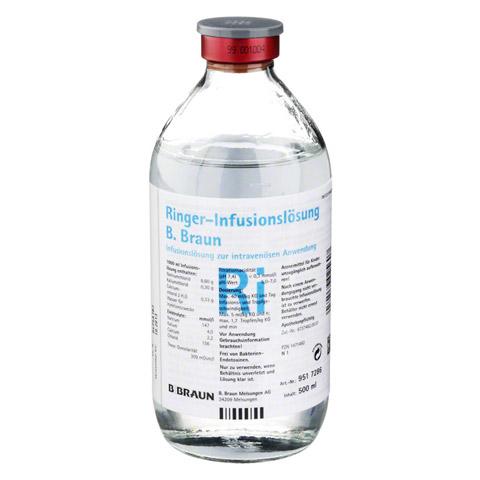 RINGER LÖSUNG B.Braun Glas Infusionslösung 500 Milliliter N1