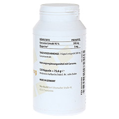 CURCUMA Extrakt 500 mg Kapseln 120 Stück - Linke Seite