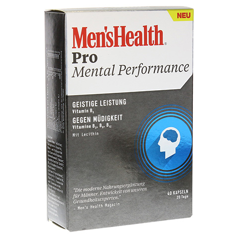 MEN'S HEALTH Pro Mental Performance Kapseln 40 St�ck