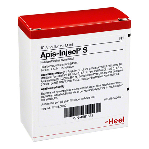 APIS INJEEL S Ampullen 10 St�ck N1