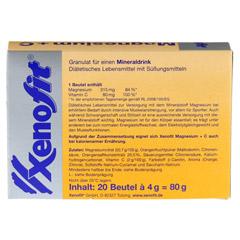 XENOFIT Magnesium+Vitamin C Btl. 20x4 Gramm - Rückseite