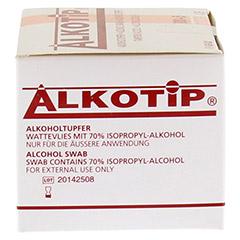 ALKO TIP Alkoholtupfer 100 Stück - Linke Seite