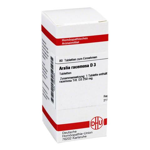 ARALIA RACEMOSA D 3 Tabletten 80 St�ck N1