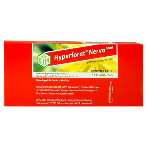 HYPERFORAT Nervohom Injektionsl�sung 10x2 Milliliter N1