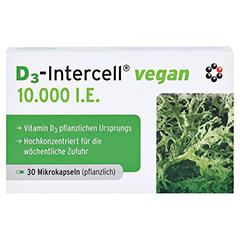 D3-INTERCELL Vegan 10.000 I.E. Kapseln 30 Stück - Vorderseite