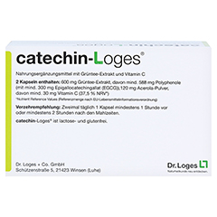 CATECHIN-Loges Kapseln 120 St�ck - R�ckseite