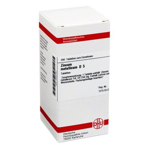 ZINCUM METALLICUM D 5 Tabletten 200 St�ck N2