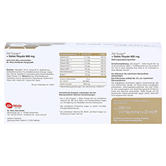 ZELL OXYGEN+Gelee Royale 600 mg Trinkampullen 14x20 Milliliter - Rückseite