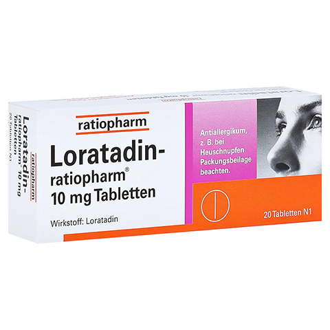 Loratadin-ratiopharm 10mg 20 Stück N1