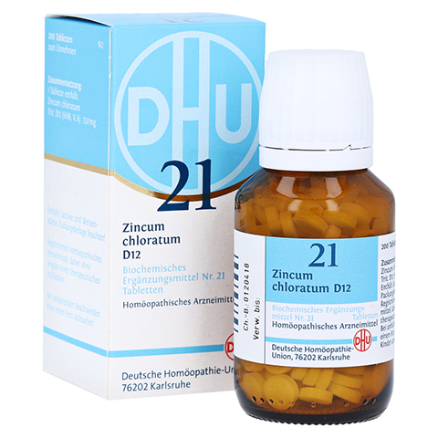 BIOCHEMIE DHU 21 Zincum chloratum D 12 Tabletten 200 Stück N2