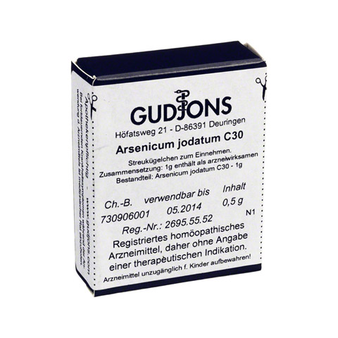 ARSENICUM JODATUM C 30 Einzeldosis Globuli 0.5 Gramm N1