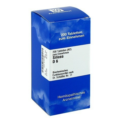 BIOCHEMIE 11 Silicea D 6 Tabletten 200 St�ck N2