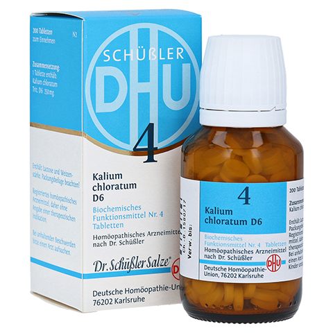 BIOCHEMIE DHU 4 Kalium chloratum D 6 Tabletten 200 St�ck N2
