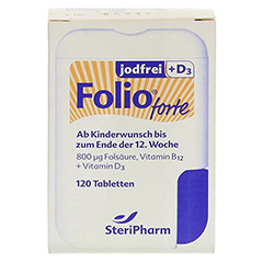 FOLIO forte jodfrei+D3 Filmtabletten 120 Stück - Vorderseite