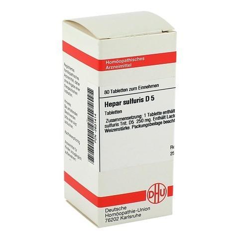 HEPAR SULFURIS D 5 Tabletten 80 St�ck N1