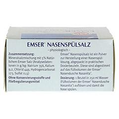 EMSER Nasenspülsalz physiologisch Btl. 20 Stück - Unterseite