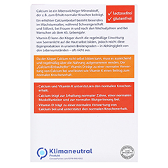 DOPPELHERZ Calcium 700+Vitamin D3 Tabletten 80 Stück - Rückseite