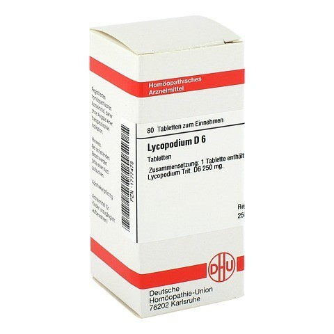 LYCOPODIUM D 6 Tabletten 80 St�ck N1