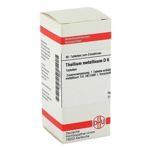 THALLIUM METALLICUM D 6 Tabletten 80 Stück N1