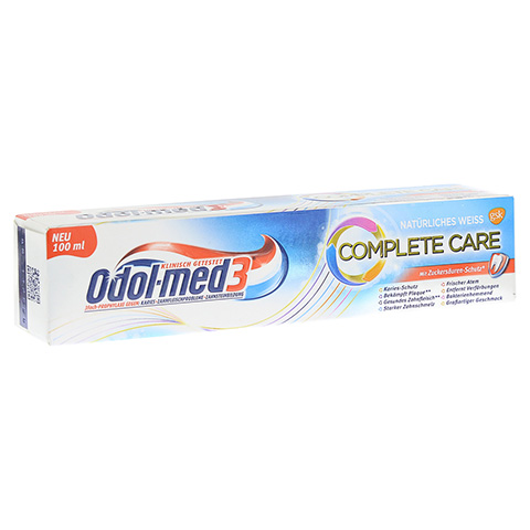 ODOL MED 3 Complete Care natürliches weiß Zahnpa. 100 Milliliter