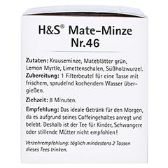 H&S Mate-Minze Filterbeutel 20 Stück - Linke Seite