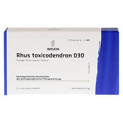RHUS TOXICODENDRON D 30 Ampullen 8x1 Milliliter N1 - Vorderseite