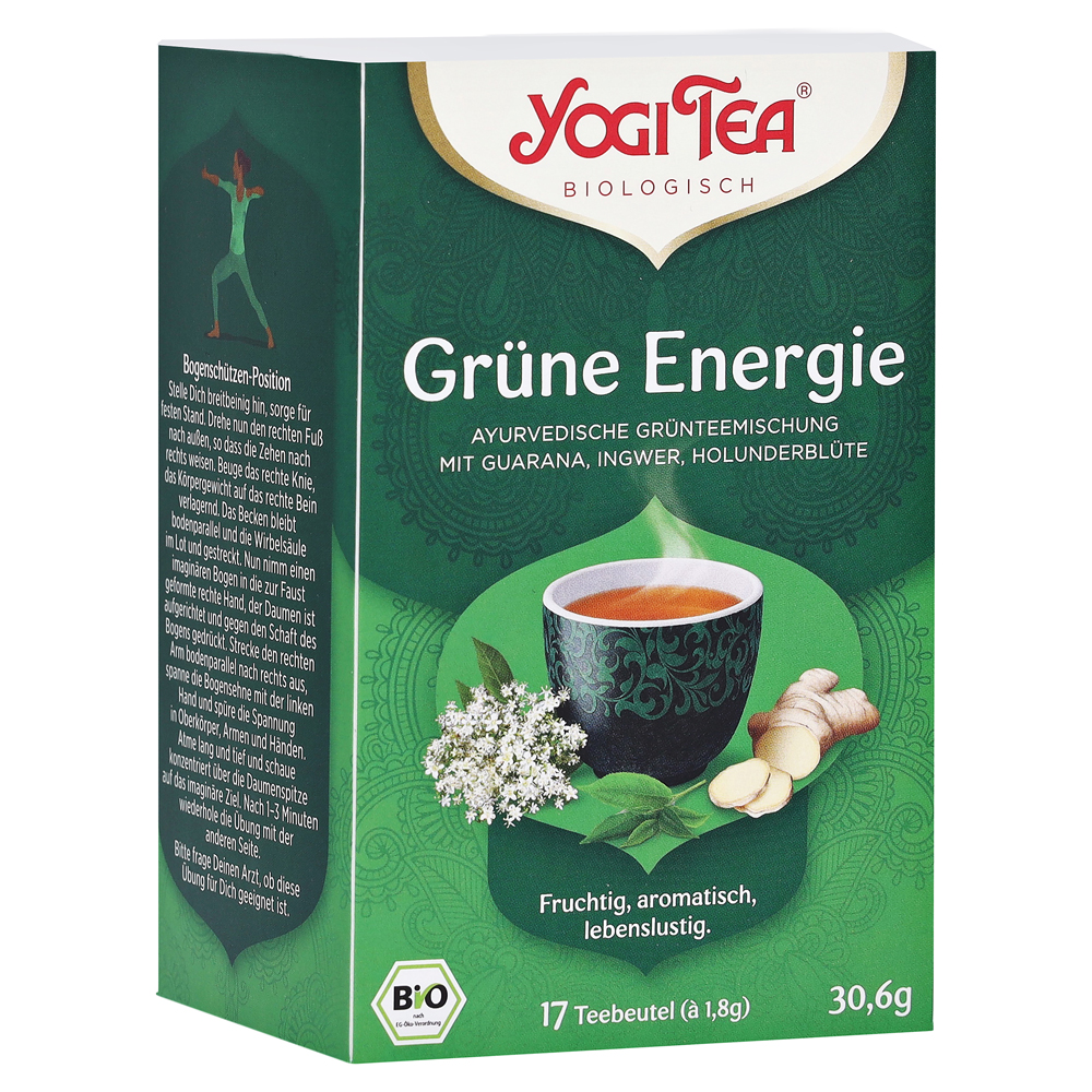 YOGI TEA grüne Energie Bio Filterbeutel 17x1.8 Gramm